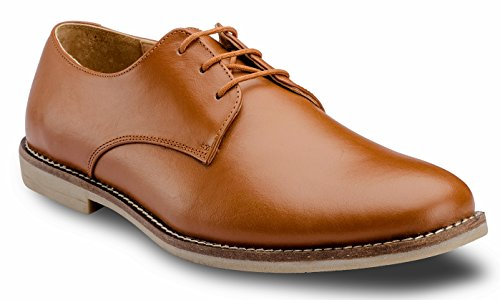 DE SCALZO Tan Leather Derby Shoes for Men