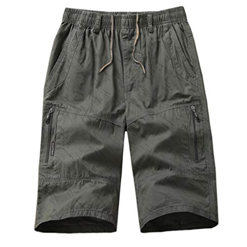 Herren Zipper Sweatpants Kurze Hosen Loose Pocket Tasche Cargo Shorts Working Boardshort Track Pants Buckle Cropped Pants Lose Latzhose Overalls Chicago Kurze Leggings -