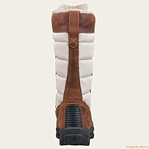 Timberland Womens Mt Holly Tall Waterproof Fleee Lined Winter Boots (7.5, Brown) Brown