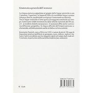 Grammatica generale dell'aramaica