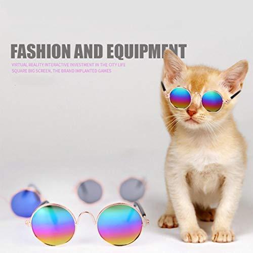 TAOtTAO Haustier Katze Hund Mode Sonnenbrillen UV Sonnenbrille Schutz Tragen (Schwarz)