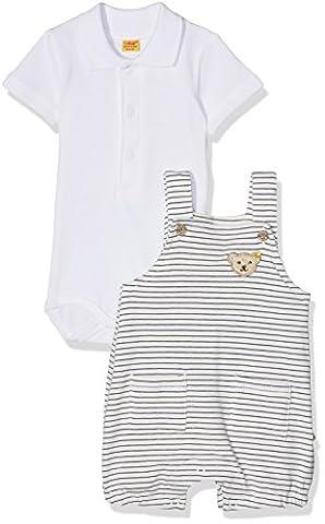 Steiff Baby-Jungen Bekleidungsset 2tlg. Spieler o Body 1/4 Arm Mehrfarbig (Y/D Stripe 0001), 74 (Herstellergröße:74)