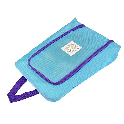 Hunpta Portable Travel Schuhbeutel Zip View Fenster Pouch Storage wasserdicht Organizer Blau