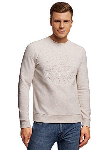 oodji Ultra Hombre Jersey con Estampado Texturizado