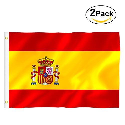 Foto de Bandera España Grande, Rymall 2pcs Bandera de España, Resistente a la Intemperie, 90 x 150 cm