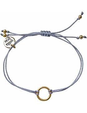 Smilla Brav Armband GOOD KARMA - hellgrau / goldplattiert - Kreis Karma-Armband DS20