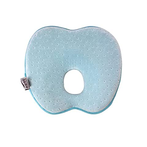 JuneJour Newborn Baby Infant Cradler Head-shaping Pillow for Prevent Flat Head Shape Apple 0-12 Months