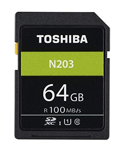 Toshiba n203 scheda di memoria sdxc 64gb - 100mb/s - classe 10 - uhs-i