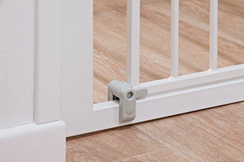 Safety 1st SecurTech Tür- und Treppenschutzgitter, aus Metall, schließt automatisch,Weiß - 5