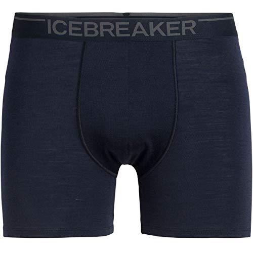 Icebreaker Herren Merino Anatomica Boxer, Herren, Anatomica Boxers, Midnight Navy (Marineblau), Medium