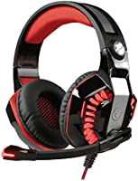 Snopy Rampage Rivia G40 USB 7.1 Oyuncu Mikrofonlu Kulaklık, Siyah/kırmızı