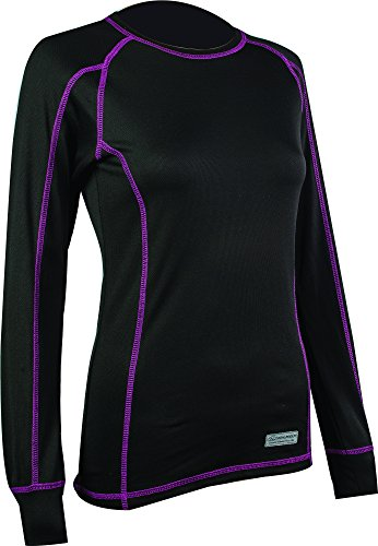 Highlander Long Sleeve Base Layer Top Famme Pro 120 Noir Taille XL