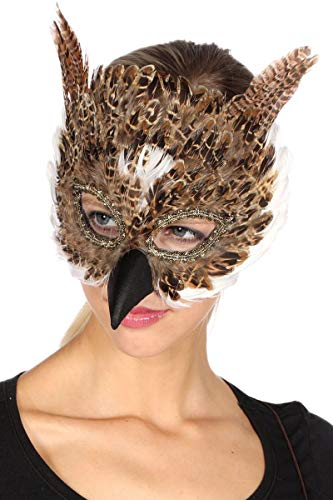 Eule Federn Kostüm - Wilbers Kostüm Zubehör Maske Eule Karneval Fasching Party Maskenball