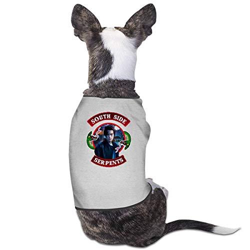 Park Babys South Kostüm - Jiaojiaozhe South Side Serpents Pet Service Pet Clothing Funny Dog Cat Costume Tshirt Gray