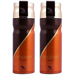 Ekoz (Paris) Optimist Oudh Unisex Imported Deodorant (Pack of 2, 200ml)