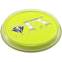 Diamond FX Pintura para cara de neón - Amarillo (30 gm)
