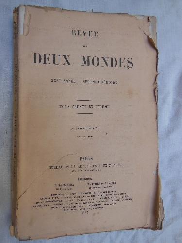 REVUE DES DEUX MONDES. T 31, 1er Janvier 1861