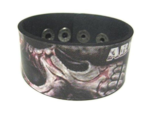 Abraham Graphic Tribal Skull Leder Armband