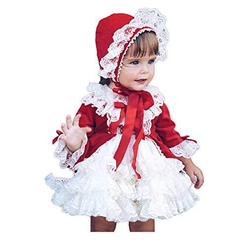 Haodasi Kleine Mädchen Neujahr Geburtstag Party Spitze Kleider Kinder Tüll Tutu Kleid Pageant Brautjungfer Tutu Rock Spanisch Outfits für Kinder 1-7T