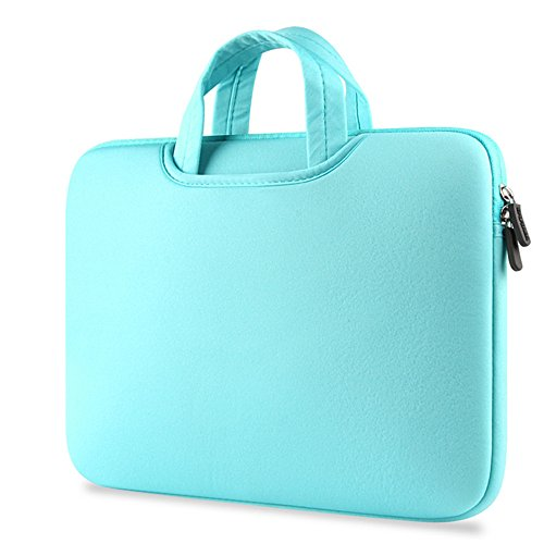 Für 29,5 cm 30,5 cm 33,8 cm 39,1 cm Apple MacBook Air/MacBook Pro/MacBook Pro (Retina) Laptop Notebook Ultrabook Luxus Fashion Neopren Handtasche Sleeve Tragetasche Schutzhülle, Mint -