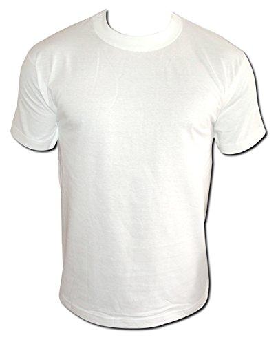 12er Pack weißes T-Shirt weiße Herren Classic T-Shirts S bis XXL 100% reine Baumwolle runder Kragen (XL) (Reine - S/s T-shirts Baumwolle)