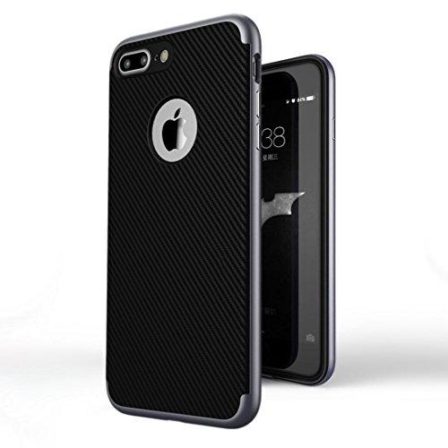 hulle-iphone-7-plus-ivencase-pramie-hybride-anti-kratz-rahmen-bumper-dual-layer-stossfest-kohlefaser