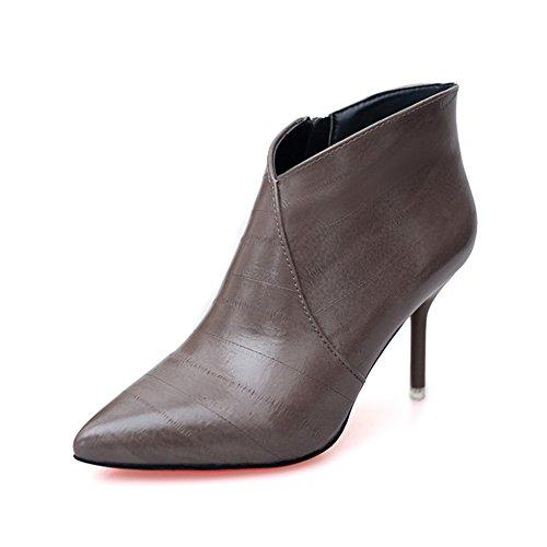 Autunno/inverno punta tacco alto a spillo stivali/Stivaletti/ scarpe tacco alto signore di bocca profonda-B Lunghezza piede=23.3CM(9.2Inch)