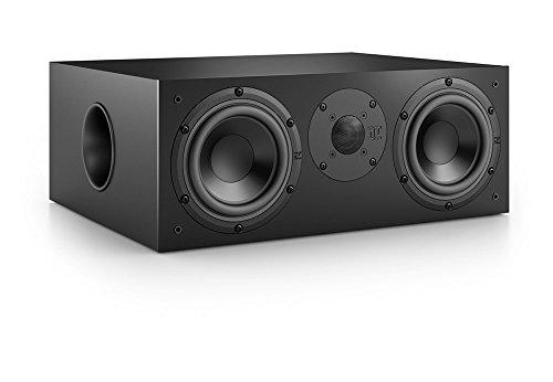 Nubert nuBox CS-413 Soundbar-/Centerspeaker 2-Wege (2x 15,0 cm Tieftöner, 2,5 cm Hochtöner, 220/300 Watt, 55-22000 Hz), Stück, Schwarz/Schwarz
