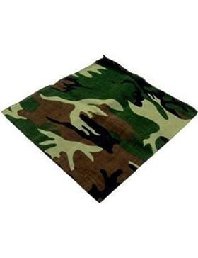 Bandana verde camuflaje - Bufanda cuello/cabeza