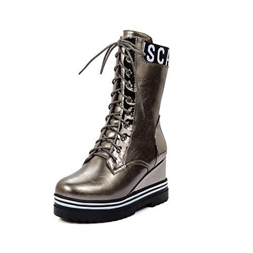 Guoar , chaussures compensées femme Silber