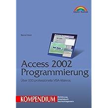 Access 2002 Programmierung - Kompendium . Über 500 professionelle VBA-Makros (Kompendium / Handbuch)