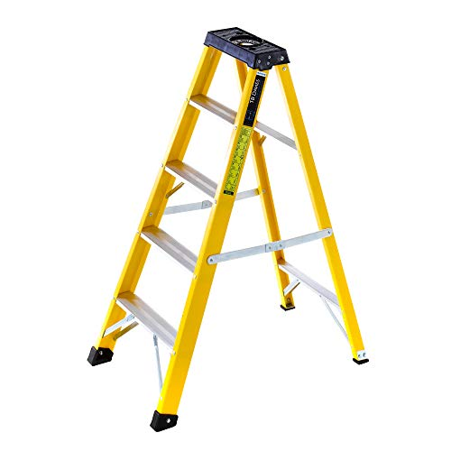 Summit - Escalera con bandeja para herramientas (fibra de vidrio)