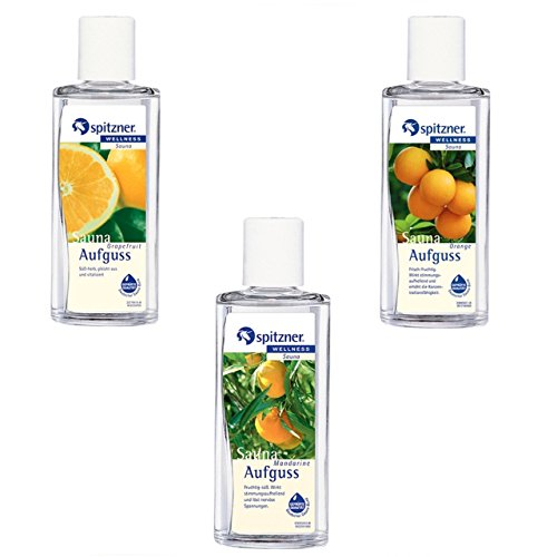 Spitzner Saunaaufguss Vorteilspack 3er Mandarine Grapefruit Orange je 190ml