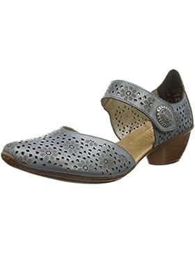 Rieker  43711-00,  Damen Pumps mit Fußgelenkriemchen
