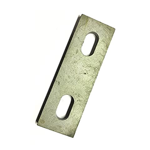 Slotted backing plate for M8 U-bolt (37 - 51 mm ID) Galvanised Mild Steel Pack Size : 1