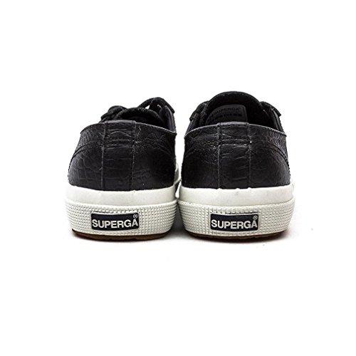 Superga 2750-Fglwembossedcocco, Chaussures de Gymnastique Femme Noir