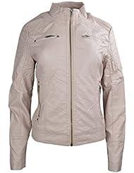 Le donne costituiscono Faux Leather Jacket signore pianura cuciture