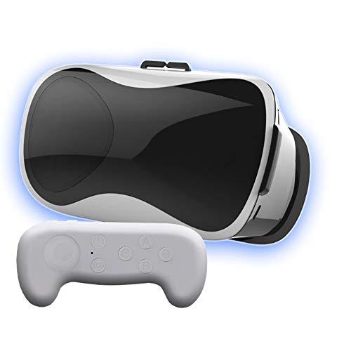 Leisure City VR 3D-Headset Virtual-Reality-Brille BlueRay HD-Objektiv mit Fernbedienungsgriff...