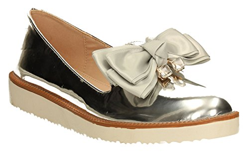 SwankySwans - Mocassini donna Silver