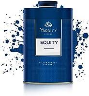 Yardley Equity Perfumed Talcum Body Powder, masculine, all day fragrance - 250 gm