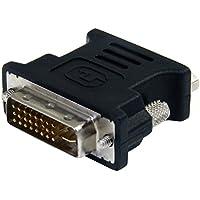 StarTech.com DVIVGAMFBK - Adaptador para monitor de ordenador DVI-I a VGA, negro