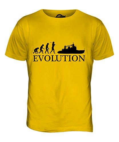 CandyMix Trawler Evolution Des Menschen Herren T Shirt Dunkelgelb