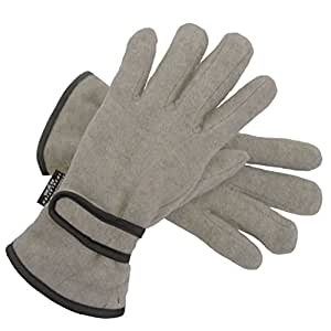 Anucci Ladies Thinsulate Gloves Silver Grey