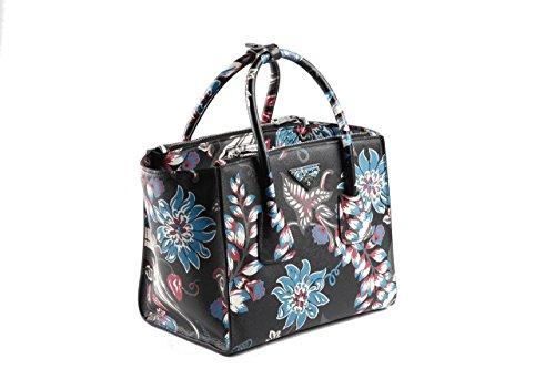 Prada Tasche Damen Schwarz Weiß,Braun,Blau,Dunkelrot Leder Abendtaschen Zwei Träger (Handtasche Prada Braun)