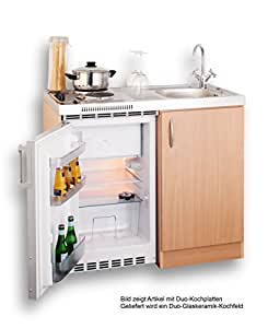 mebasa mebakb100cfoos pantryk che singlek che 100 cm buche mit glaskeramik kochfeld und. Black Bedroom Furniture Sets. Home Design Ideas