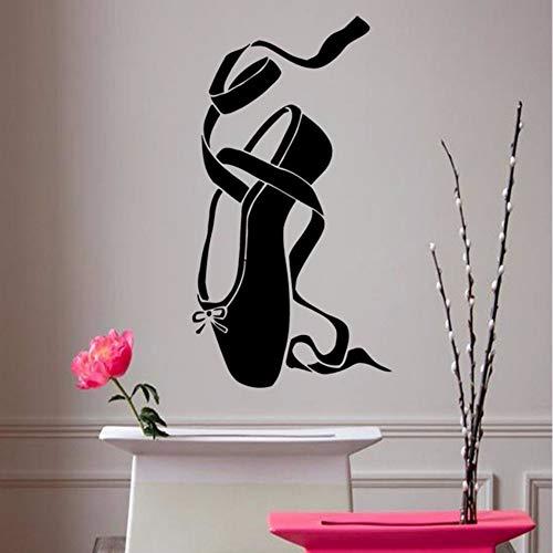 Pbldb Ballett Wandtattoos Pointes Ballettschuh Ballerina Mädchen Raum Tanz Sport Menschen Home Vinyl Wandaufkleber Kinder Baby Room Mural51X25 Cm