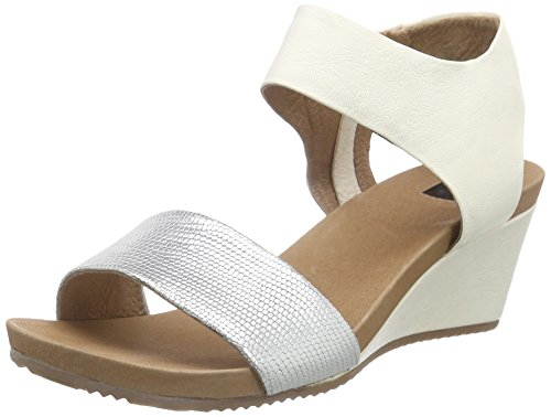 Giudecca Jycx15ab8-1, Wedge sandales ouvertes femme multicolore (Green white/BB2-2)