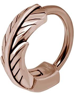 SL-Silver Helix Piercing Ring Design Feder 925 Silver/vergoldet