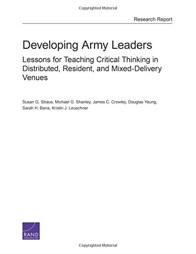 Developing Army Leaders: Lessons for Teaching Critical Thinking in Distributed, Resident, and...