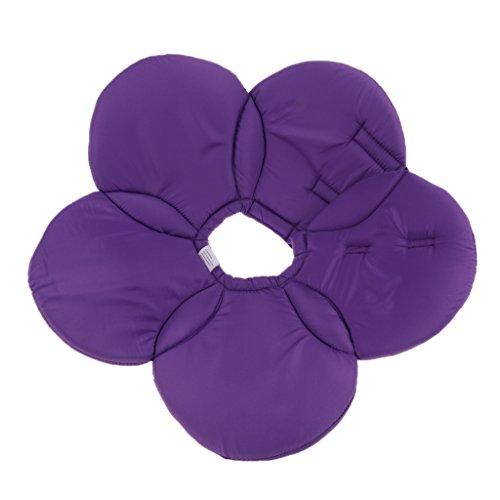 Baoblaze Blume Design Halskrause Schutzkragen Leckschutz Kratzschutz für Hunde Katze, Größe S-L - Lila - S